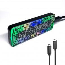 PNC PARTNER EVEREST NVMe GLASS RGB M.2 SSD 외장 케이스